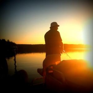 Fishing Sunset Lake